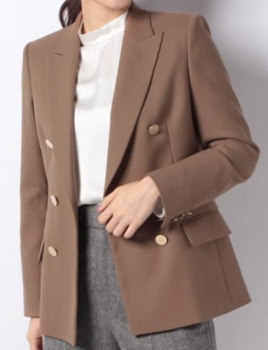 わたし定時で帰ります。衣装内田有紀1話茶色ジャケット