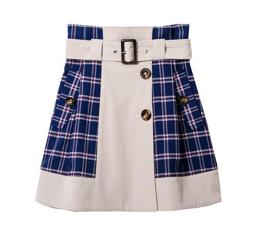 つぐみ妹衣装チェックミニスカート